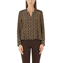 Buy Marc Cain Cheetah Print Blouse, Brown Online at johnlewis.com