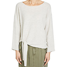 Buy Oui Tie Front Jumper, Off White Online at johnlewis.com