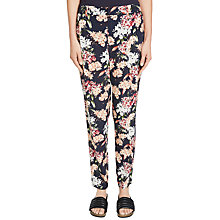 Buy Oui Floral Print Trousers, Multi Online at johnlewis.com