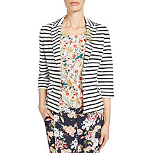Buy Oui Stripe Blazer, White/Blue Online at johnlewis.com
