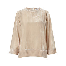Buy Samsoe & Samsoe Christy Long Sleeve Top, Pink Tint Online at johnlewis.com