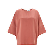 Buy Samsoe & Samsoe Jayna Top, Light Mahogony Online at johnlewis.com