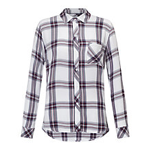 Buy Rails Hunter Check Shirt, White/Scarlet Online at johnlewis.com