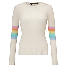 Buy 360 Sweater Clementine Cashmere Jumper, Chalk/Multi Online at johnlewis.com