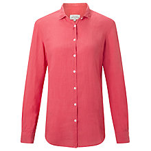 Buy Hartford Corazon Linen Shirt, Pink Online at johnlewis.com