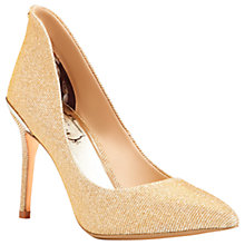 Buy Ted Baker Saviy Stiletto Heeled Court Shoes, Gold Online at johnlewis.com
