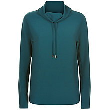 Buy Jaeger Funnel Neck Drawstring Top, Green Online at johnlewis.com