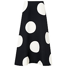 Buy L.K. Bennett Marlin Full Spot Skirt, Multi Online at johnlewis.com