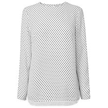 Buy L.K. Bennett Arlo Polka Dot Blouse, Multi Online at johnlewis.com