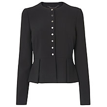 Buy L.K. Bennett Evie Hemmers Jacket, Black Online at johnlewis.com