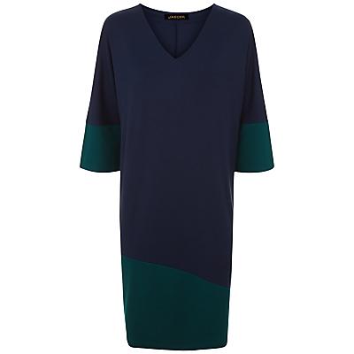Jaeger Colour Block Jersey Dress, Multi