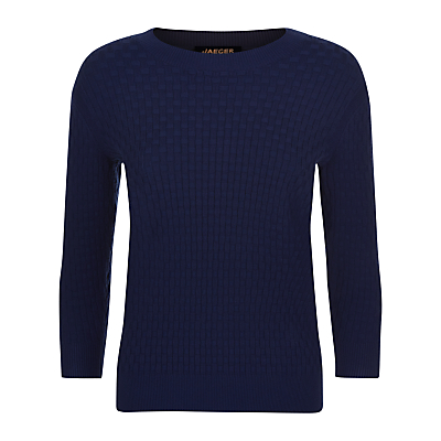 Jaeger Basketweave Crew Neck Jumper