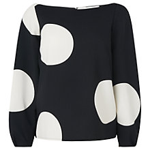 Buy L.K. Bennett Marlin Spot Top, Multi Online at johnlewis.com