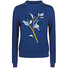 Buy Jaeger Embroidered Sweatshirt, Navy Online at johnlewis.com