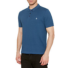Buy Original Penguin Waffle Winston Polo Shirt, Dark Denim Online at johnlewis.com