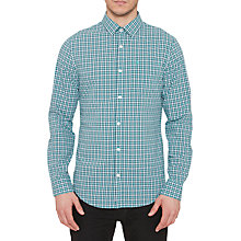 Buy Original Penguin Long Sleeve Mini Plaid Shirt, Bright Aqua Online at johnlewis.com
