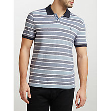 Buy Original Penguin Birdseye Wide Stripe Slim Fit Polo Shirt, Dark Sapphire Online at johnlewis.com