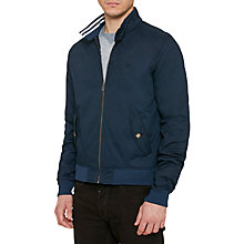 Buy Original Penguin P55 Harrington Jacket, Dark Sapphire Online at johnlewis.com
