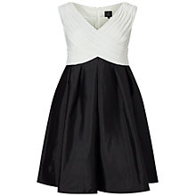 Buy Adrianna Papell Taffeta Fit And Flare Dress, Black/Ivory Online at johnlewis.com
