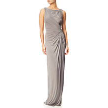 Buy Adrianna Papell Sleeveless Sequin Lace Jersey Gown, Mink Online at johnlewis.com