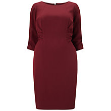 Buy Adrianna Papell 3/4 Sleeve Ruched Dress, Black Cherry Online at johnlewis.com
