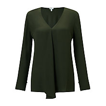 Buy Jigsaw V-Neck Silk Drape Top Online at johnlewis.com