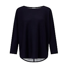 Buy Jigsaw Double Faced Scooped Jumper, Dark Navy Online at johnlewis.com