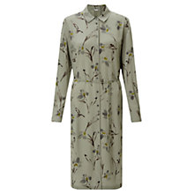 Buy Jigsaw Floating Aster Shirt Dress, Khaki Fog Online at johnlewis.com