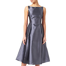 Buy Adrianna Papell Sleeveless Tea Length Dress, Gunmetal Online at johnlewis.com