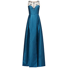Buy Adrianna Papell Sleeveless Beaded Bodice Gown, Teal Crush Online at johnlewis.com
