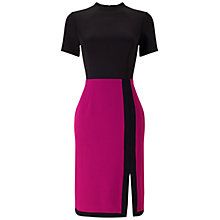Buy Adrianna Papell Scuba And Crepe Colour Block Shift Dress, Magenta/Black Online at johnlewis.com