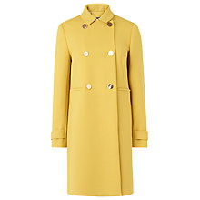 Buy L.K. Bennett Bay Double Breasted Coat, Yellow Online at johnlewis.com