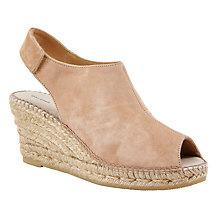 Buy John Lewis Kristel Peep Toe Wedge Heeled Sandals, Nude Online at johnlewis.com