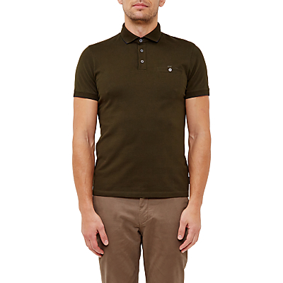 Ted Baker Clay Flat Knit Collar Polo Shirt.
