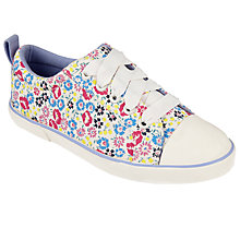 Buy John Lewis Children's Paige Floral Laced Trainers, Multi Online at johnlewis.com