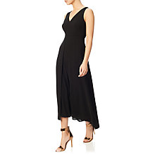 Buy Adrianna Papell Tonal Overlay Jumpsuit, Black Online at johnlewis.com
