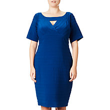 Buy Adrianna Papell Plus Size Directional Banded Bodycon Dress, Night Flight Online at johnlewis.com