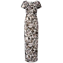 Buy Adrianna Papell Long Matalesse Column Gown, Black/Multi Online at johnlewis.com