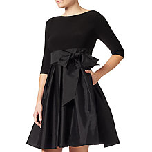 Buy Adrianna Papell Taffeta Fit and Flare Dress, Black Online at johnlewis.com
