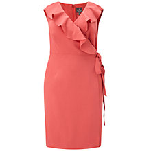 Buy Adrianna Papell Plus Size Cascading Ruffle Draped Sheath Dress, Indian Rose Online at johnlewis.com