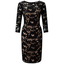 Buy Adrianna Papell Plus Size Carol Lace Sheath Dress, Black/Blush Online at johnlewis.com