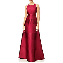 Buy Adrianna Papell Halter Mikado Satin Stripe Gown, Crimson Online at johnlewis.com