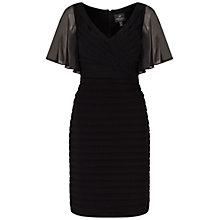 Buy Adrianna Papell Flutter Sleeve Jersey Dress, Black Online at johnlewis.com