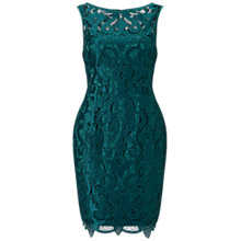 Buy Adrianna Papell Petite Sleeveless Guipure Cocktail Dress, Hunter Green Online at johnlewis.com