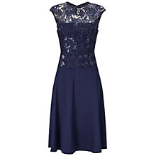 Buy Adrianna Papell Cap Sleeve A-Line Cocktail Dress, Night Navy Online at johnlewis.com