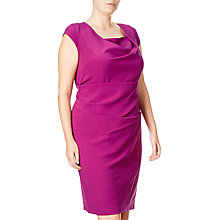 Buy Adrianna Papell Plus Size Draped Cowl Neck Sheath Dress, Deep Berry Online at johnlewis.com