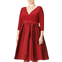 Buy Adrianna Papell Plus Size Fit And Flare Cocktail Dress, Chili Online at johnlewis.com