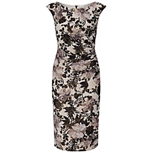 Buy Adrianna Papell Matalesse Side Ruched Shift Dress, Black/Multi Online at johnlewis.com