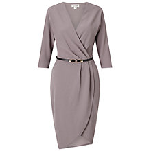 Buy Miss Selfridge Belted Wrap Dress, Grey Online at johnlewis.com