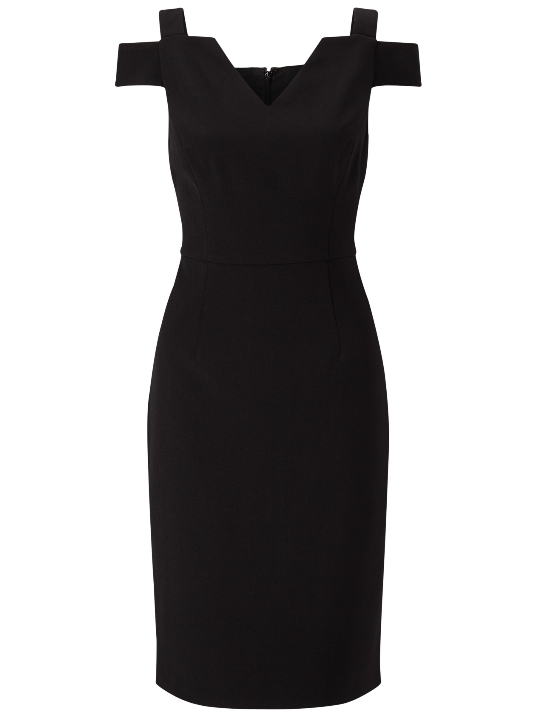 Adrianna Papell Adrianna Papell Cold Shoulder Fitted Sheath Dress, Black